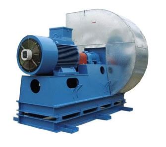wentylator promieniowy z napędem sprzęgłowym